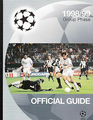 UEFA Champions League Official Guide - 1998/99 Group Phase Manchester Utd Treble