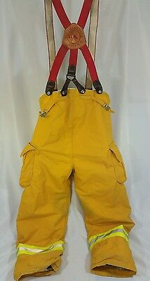 Quest Firefighter Turnout/Bunker Pants Suspenders 40 x 30 - year 2000
