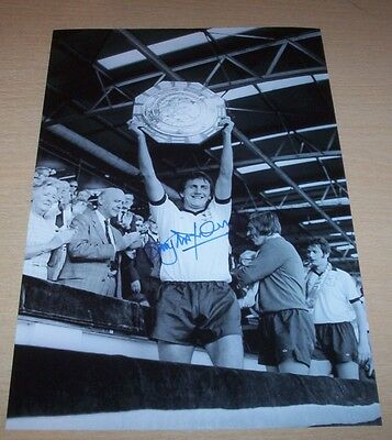 Roy McFarland - Derby County Signed 12x8 Photo 1975 Charity Shield - PROOF