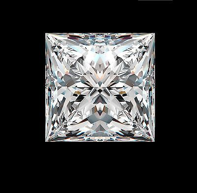 2.4ct Princess Synthetic by Crystal Carbon Labs Outshines diamonds & Moissanite