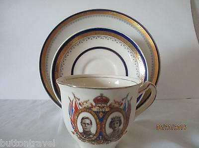 Vintage King Edward the 8th Coronation Cup Saucer & cake plate B/M ROYAL MYOTTS