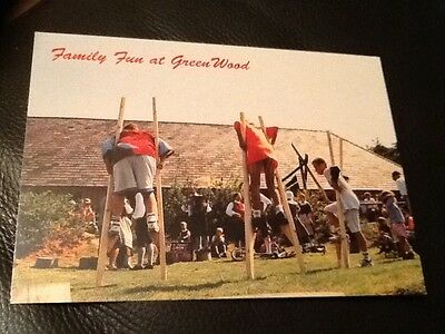 RARE UNUSED POSTCARD . GREEN WOOD FOREST PARK THEME PARK . NORTH WALES .1990's