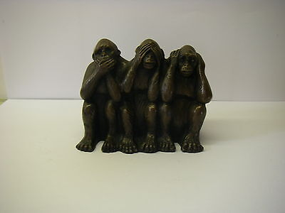 Three Wise Monkeys / Resin Ornament Figurine