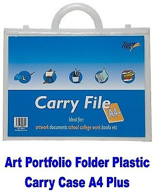 Art Portfolio Folder Plastic Carry Case A4 Plus