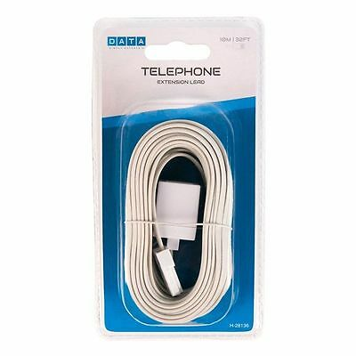 Telephone Extension Cable Lead 10m For All Phone Lines new