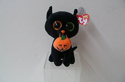 New 2016 Shadow The Halloween Black Cat(37193) - The  Plush Beanie Boos From Ty