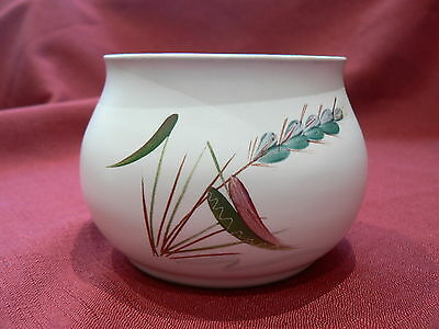 Denby Greenwheat  sugar bowl signed by A College