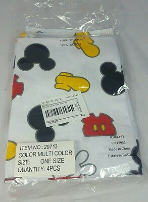 Set of 4 Disney Mickey Mouse Kitchen Towels Body Parts No. 29713 100% Cotton