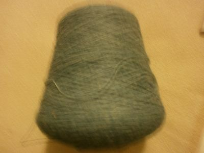 Machine Knitting Cone of yarn 2.18's Misty Green 585 grams