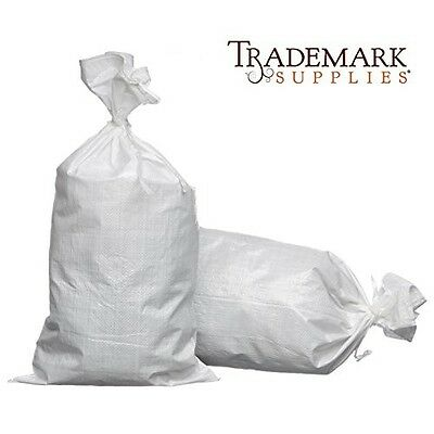 Trademark 18x30 Woven Polypropylene Sand Bags With Ties & UV Protection (100