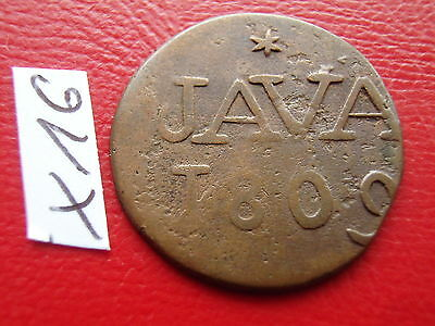 INDONESIA NETHERLANDS EAST INDIES Java copper Duit 1809 / Holland Indie 爪哇