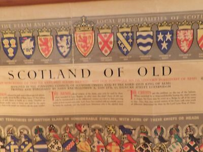 Scotland of Old Map and Clan Chart