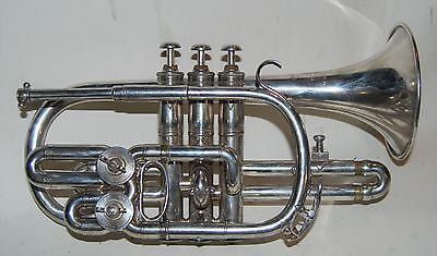 5 Valve Cornet Couesnon & Cie 1920's  2 rotary Valves  C, Bb and A at 440