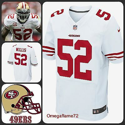 Nike NFL San Francisco 49ers Willis #52 Jersey Shirt Players On Field Sz Med