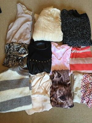 Pre owned Used Mixed Women Clothes Lot Size Small Medium Dress Shirts  Etc