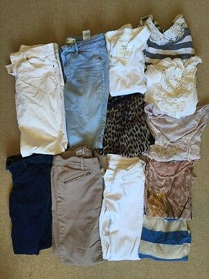 Pro Owned Used Blemished Women's Clothing S-M Mix Lot Shirts Pants Abercrombie