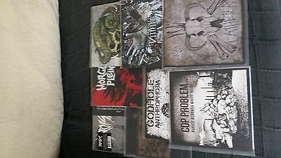"Grindcore hardcore 7"" lot x8 noisem dead church hxc crust d-beat sxe fastcore"