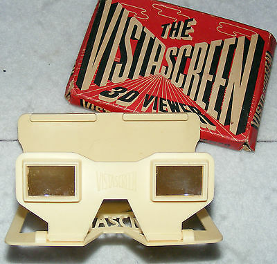 Vista Screen 3D Viewer in box, with many 3D B&W and colour photo slides.