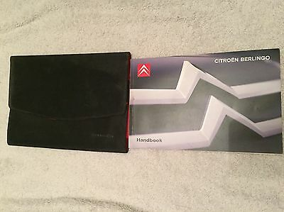 CITROEN BERLINGO OWNERS MANUAL HANDBOOK WALLET 2008-2012 Full PACK U.K.
