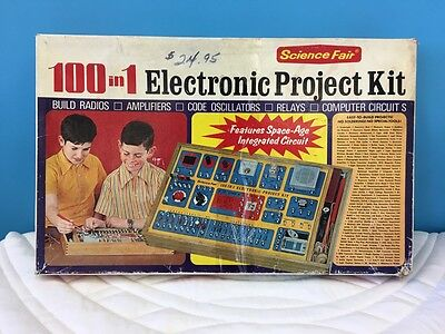 Vintage 100 in 1 Electronic Project Kit