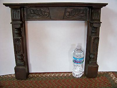 RARE RARE Antique Child's VICTORIAN Carved Fireplace MANTLE Salesmans Sample?