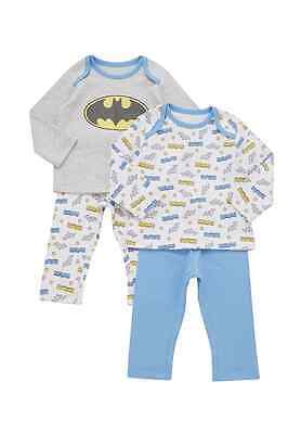 2 Pack 100% Cotton  Baby Boys  DC Comics  Pyjamas 3 months to 3 years