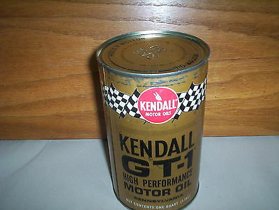 Vintage Kendall GT-1 High Performance Motor Oil Can Tin: Racing Flags #30 Canada