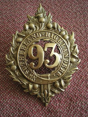 Victorian Repro British 93rd SUTHERLAND HIGHLANDERS GLENGARRY BONNET BADGE