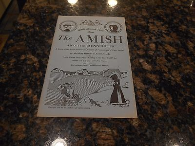 Antique Plain People Book/little Know Facts Amish/mennonites/customs/habits/1938