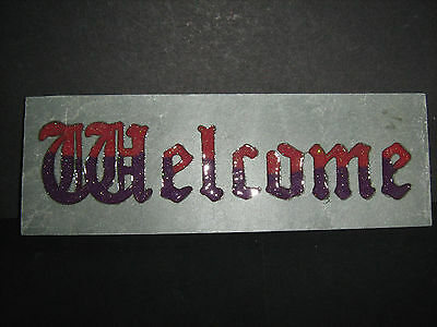 Welcome or Blessed Be Stone Wall Plaque  Beautiful  Home~Garden~Ornament