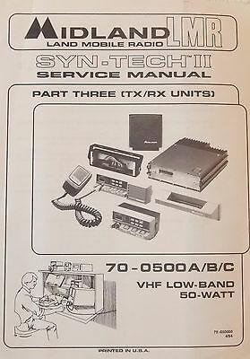 MIDLAND 70-0500 A/B/C VHF Low band Service Manual Syntech II 70-050000 PART3