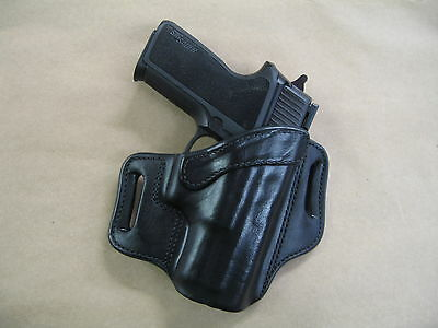 Sig Sauer P 2022 / 2340 OWB Leather 2 Slot Molded Pancake Belt Holster CCW BLACK
