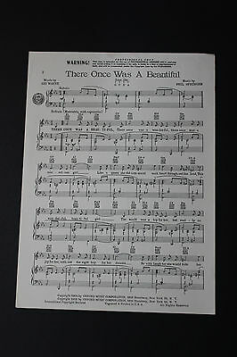 SHEET MUSIC: Sid Wayne There Once Was a Beautiful Phil Springer Oxford Music Cor
