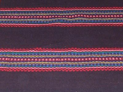 "Bulgarian traditional Hand Woven Wool-100% Rug Beautiful Colorful 3m25cm(130"")"