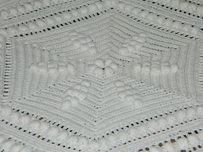 ANCIENNE COUVERTURE AU CROCHET vintage french bed spreads plaid handcrocheted