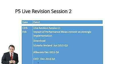 LSBF: ACCA P5 2016 Lectures By David Laws with Revisions & All Study Materials