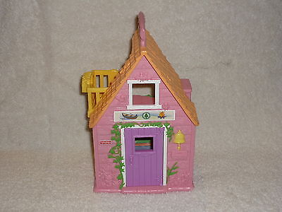 Fisher Price Sweet Streets Dollhouse Camp Camping Pink Cabin