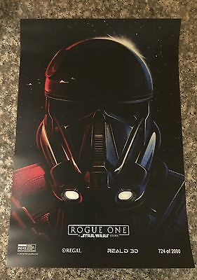 "Rogue One: A Star Wars Story - 13""x19"" Art Print Numbered Limited Edition"