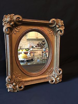 Antique French Gilt Wood Decorative Arts Wall Mirror