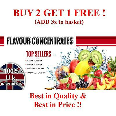E Liquid Flavour Concentrate EXTRA Concentrated 10ml 30ml,60ml,90ml M-W