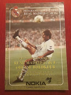 Programme Official Real Madrid Odense Boldklub Uefa Cup 1994 1995
