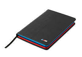 BMW M Leather Notebook Genuine BMW Lifestyle Range Pack of 2 80242410925