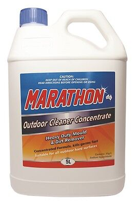 Marathon Outdoor Cleaner Concentrate 5 litres  Heavy duty dirt & mould remover