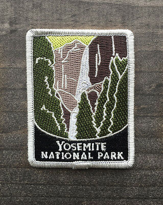 Yosemite National Park Souvenir Patch Traveler Series Falls Iron-on California