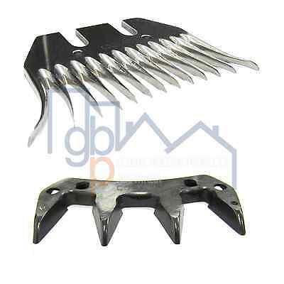 Multi Pack - 5 Professional Shearing Combs & 10 Cutters -FREE Postage Australia