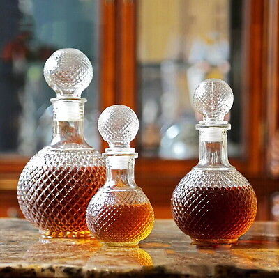 Crystal Whiskey Wine Shot Glass Bottle With Cap Stopper Drinking Bar Decanter XC