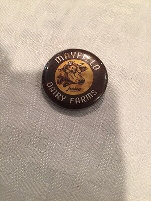 MAYFIELD Dairy Farms Milk JERSEY Cow Pinback Pin Button (ID1192)