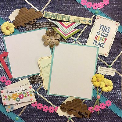 handmade scrapbook page 12 X 12 Any Occasion (pinup Board Look) Themed Layout
