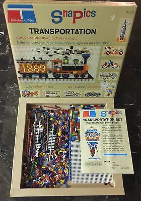 Tupperware Toys SnaPics Transportation Tiles Picture Making No. 203