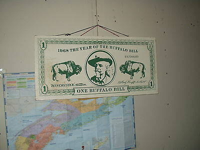Hanging wooden Winchester Buffalo Bill Gun Commmemorative Advertising Poster 1$